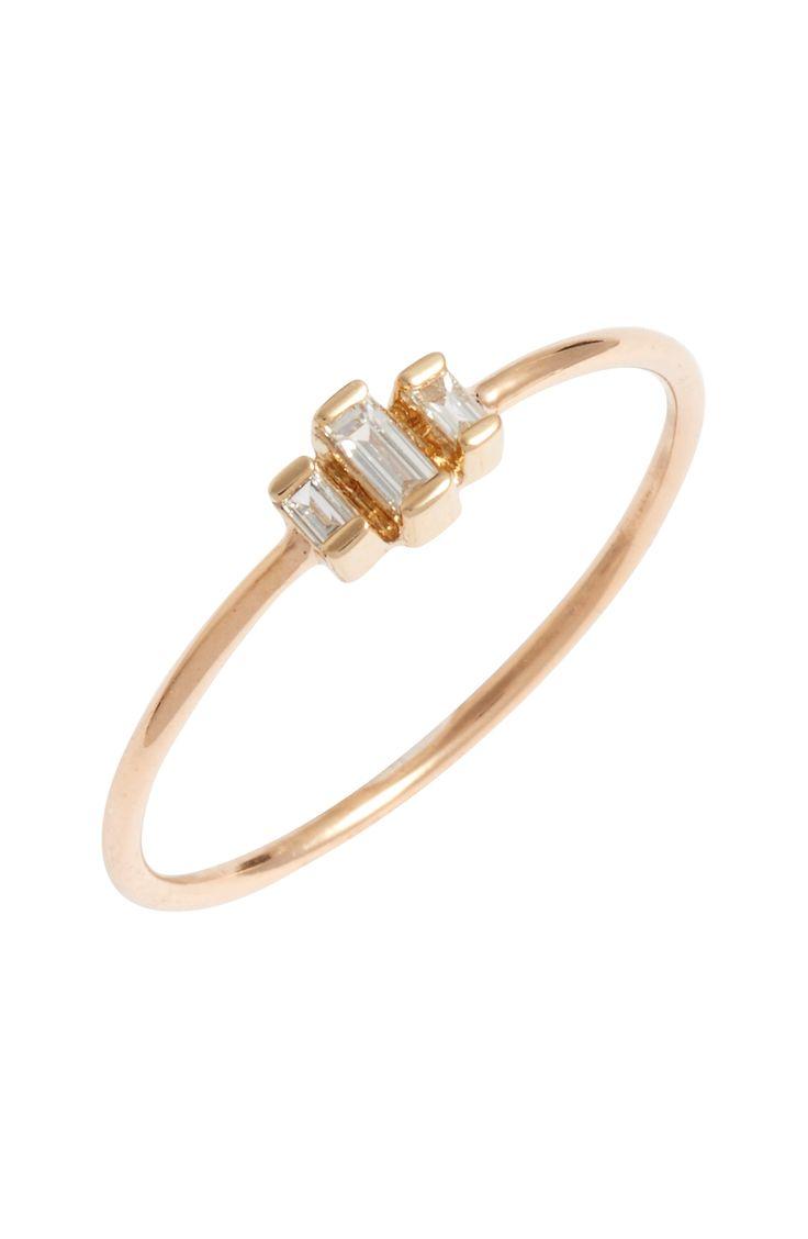zoe chicco diamond baguette stack ring | Adorn & shine ...