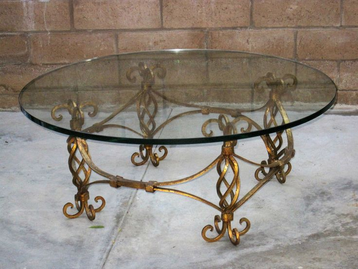 1000 Images About Wrought Iron Table On Pinterest Iron Gates Glass Top Coffee Table And