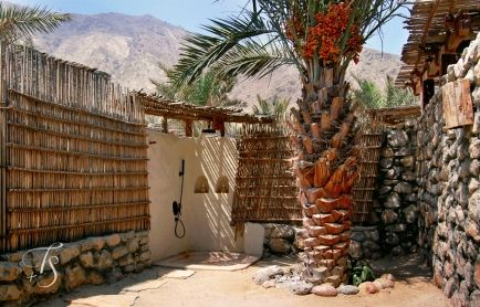 Outdoor Shower. Six Senses Zighy Bay, Oman. © Travel+Style