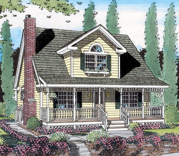 Cottage Country Farmhouse Southern House Plan 24706