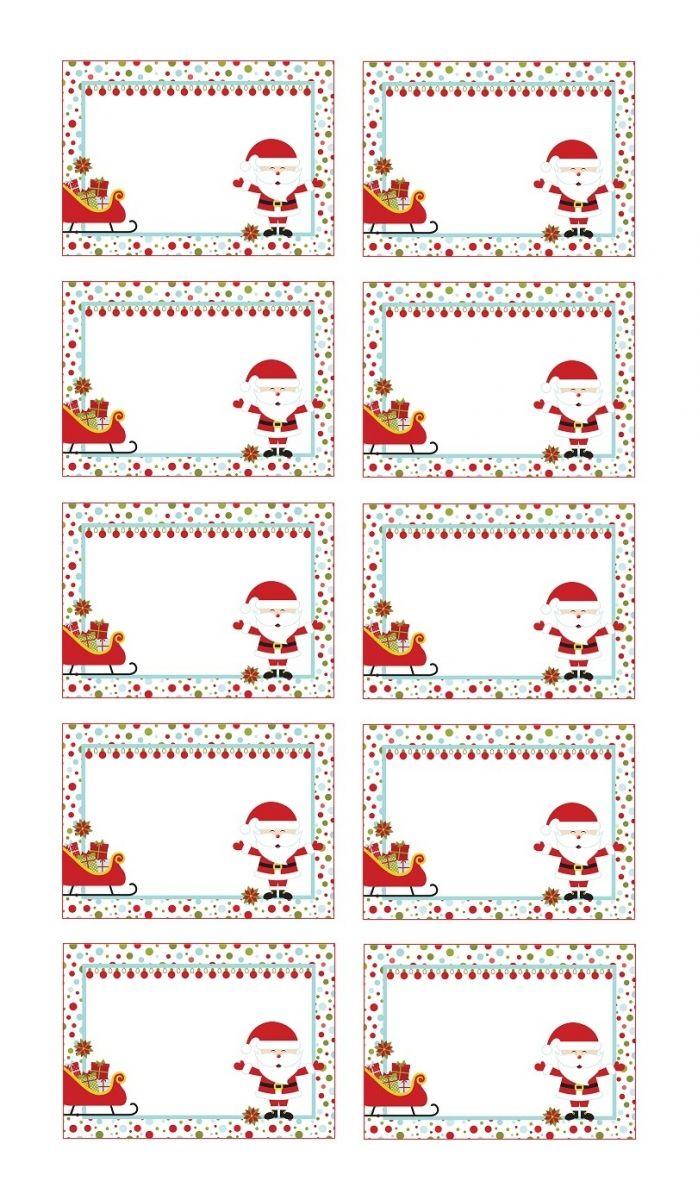 Etiquettes de Noël à coller sur les cadeaux
