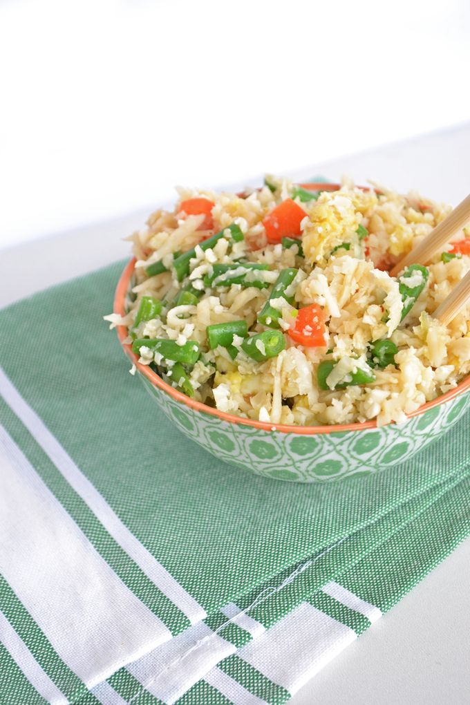 Eating Paleo or Whole30 doesn't mean you can't enjoy a big bowl of your favorite Chinese food! This Cauliflower Fried Rice is the perfect replacement.