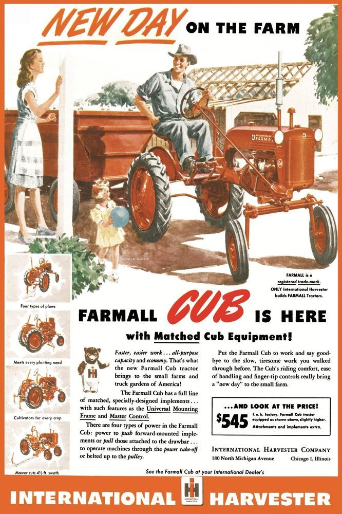 International Farmall Cub New Day on the Farm