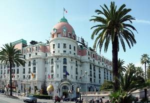 The Hotel Negresco in Nice, where Rowan stays.
