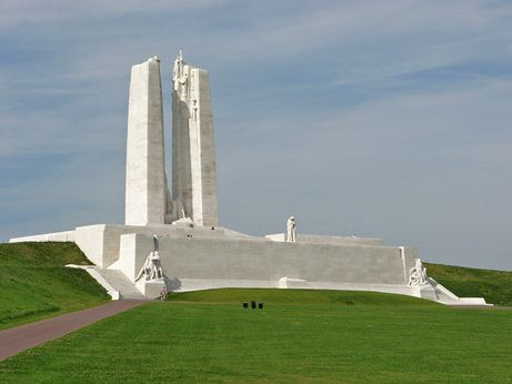 The most impressive wartime monument in France is the one at Vimy Ridge. Rededicated in 2007 after restoration, the memorial is returned to its original glory. Designed by Walter Allward, the monument's construction took eleven years and is described in Jane Urquhart's excellent book, The Stone Carvers. For more: www.elinorflorence.com/blog/somme-casualty.