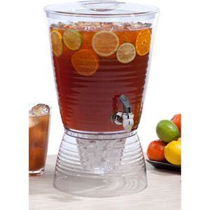 Get everything you need for the perfect July 4th celebration from Cartonomy.com Creative Bath Bark 2.5-Gallon Beverage Dispenser