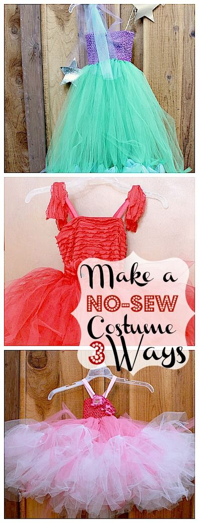 """""""Make a No-Sew Halloween Costume for $20 (Mermaid, Princess or Fairy)"""" by Tatertots & Jello"""
