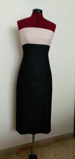 Falda de talle alto con top palabra de honor, realizado por mi