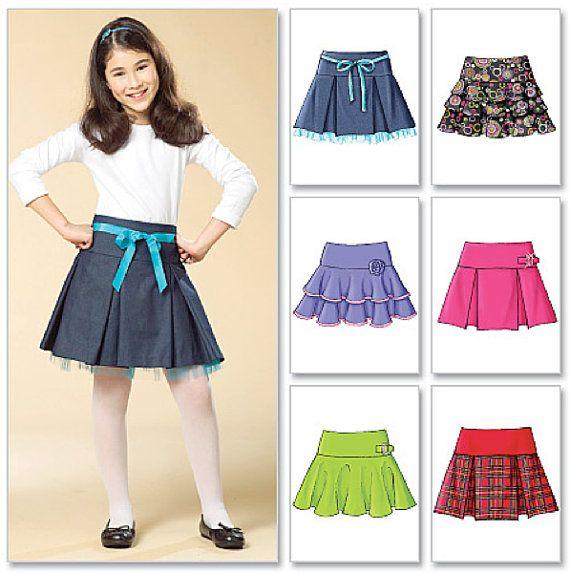 Patrón de costura FALDA de las NIÑAS faldas muy fáciles 6 en
