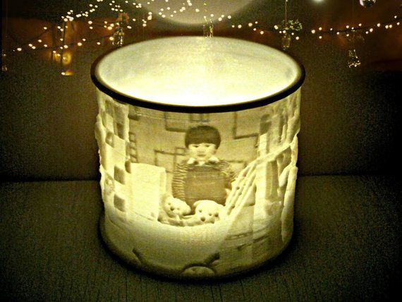 Custom Photo Candle Led Tealight Holder Lithophane Lamp Night Light Flameless Candle 3d Printed Personalized Gift Birthday Anniversary Photo Candles Candle Shapes Tea Lights