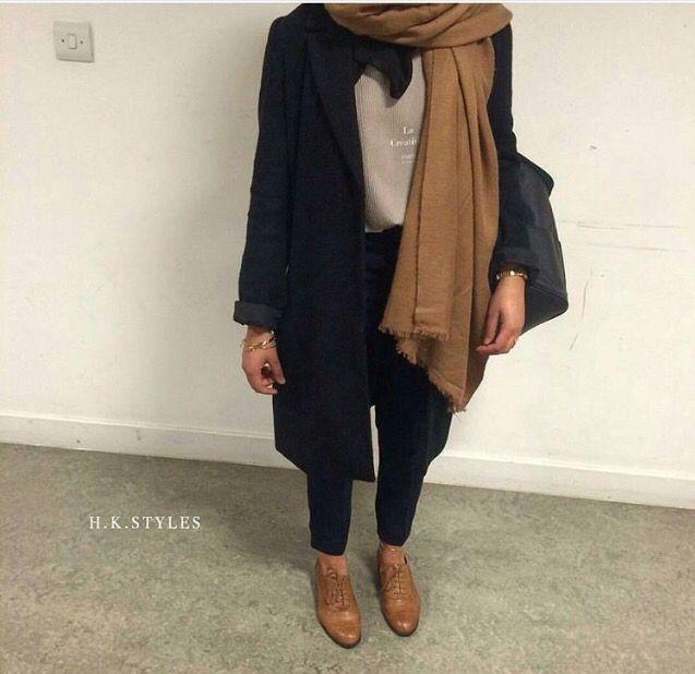 Camel colour hijab