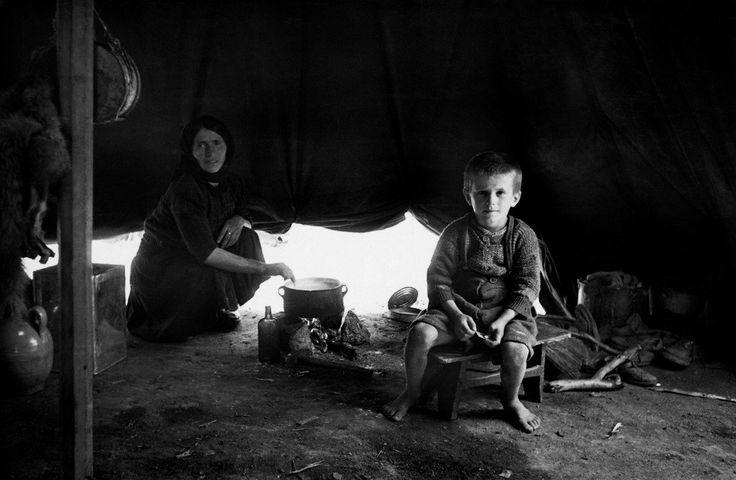 David Seymour 1948.  Ioannina. Refugees from the civil war areas.