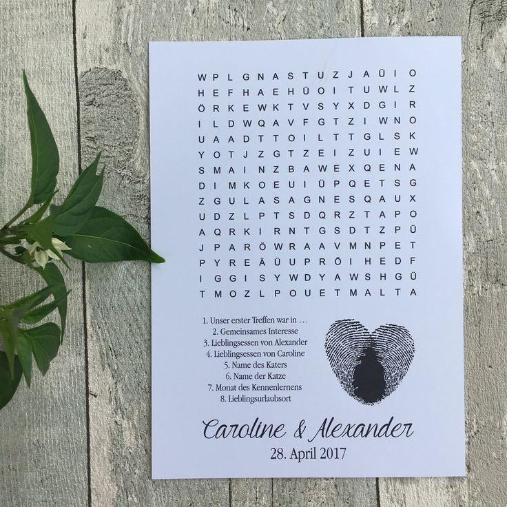 Hochzeitsrätsel Herz Fingerabdruck