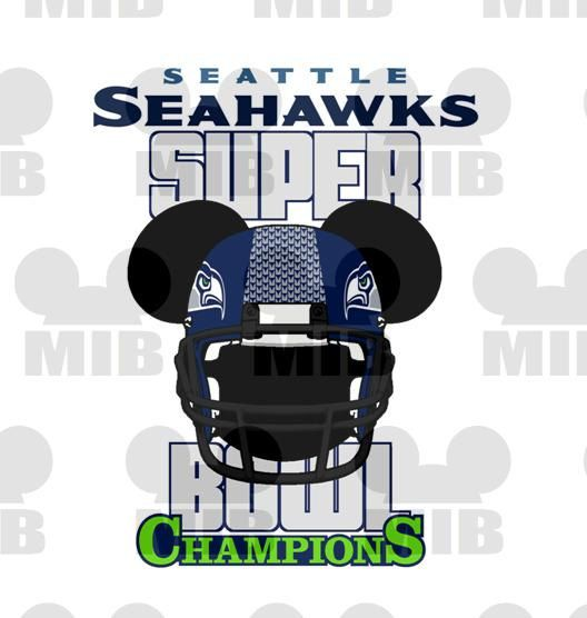SUPERBOWL CHAMPIONS Seattle Seahawks  Digital Image by MiceInBlack, $6.00  HOW Cute is this...my two favorite things.