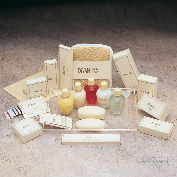 Personalized Designs Divan Hotels Turkey | Sadi Tanay's Collection, Istanbul #hotel #guest #amenities #soap #shampoo #showergel #istanbul #otel #buklet