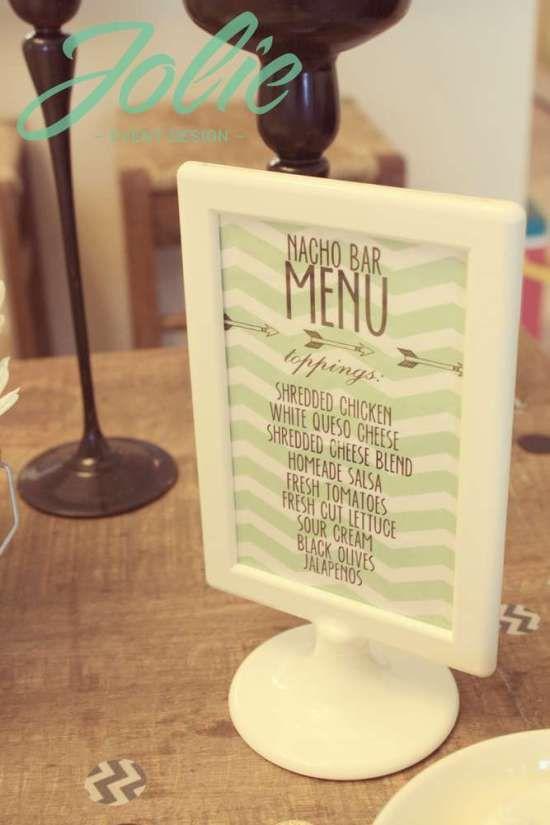 lingerie bridal shower food menu