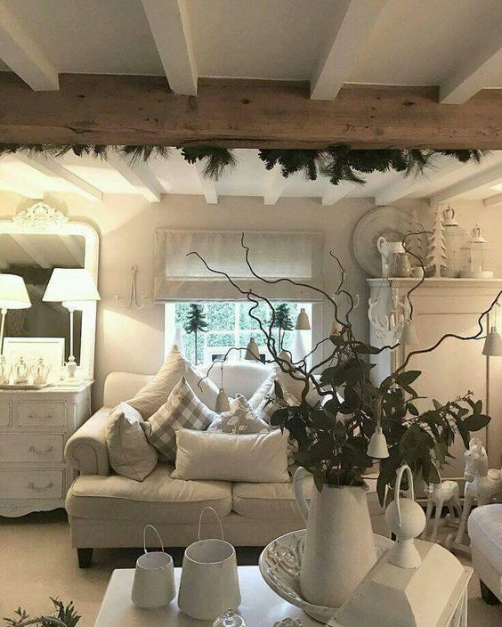 Cosy cottage lounge,  love the rustic look