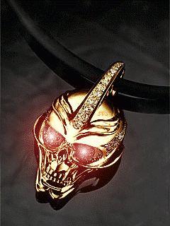 Золотой череп - анимация на телефон №1029841