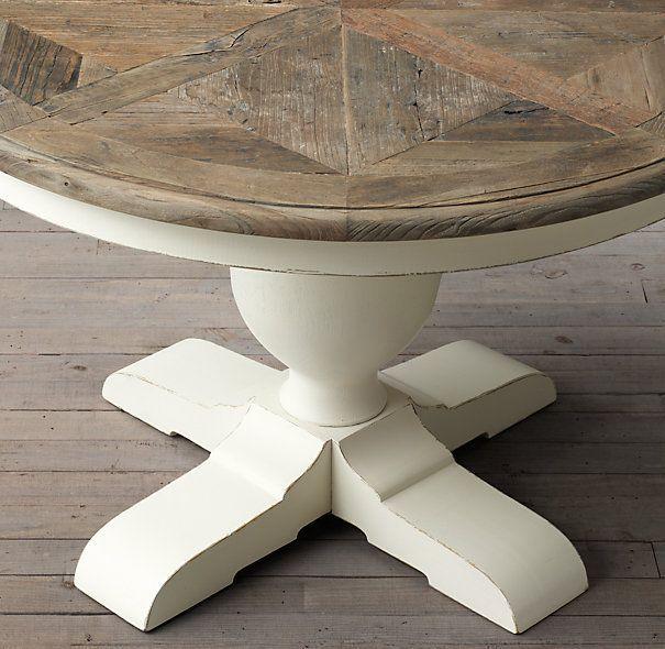 mesa comedor redonda blanca madera