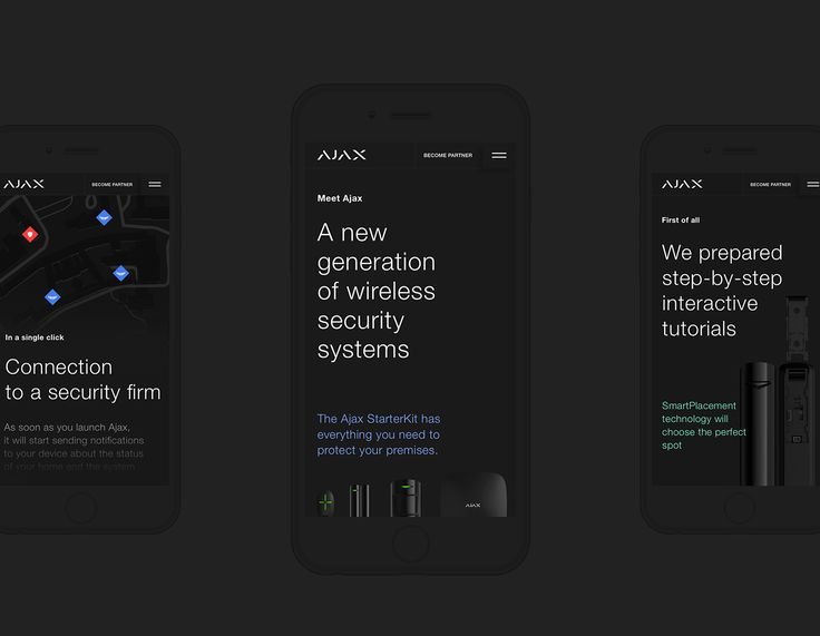 Ajax Brand Site on Behance