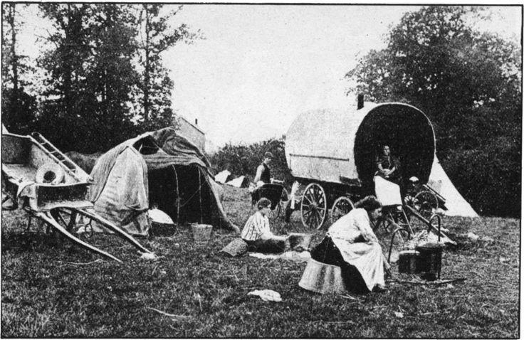 Gypsy Life/Camp in English Woodland