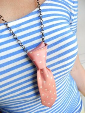 tie necklace - I think It would look awesome  in a funky print over a solid shirt!!