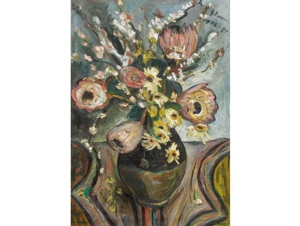 Irma Stern is my favourite floral painter. She is South African & was also ahead of her time in style. I say that because I usually can't stand floral paintings. Irma opened my heart with her bold pallet-knife impasto strokes and choice of colour pallet!    Every time I need a pick-me-up, I stare at her florals in my book.    These are her Proteas & I adore it!