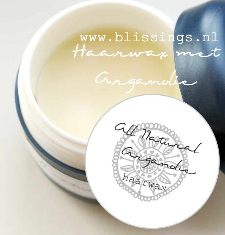 All natural haarwax met arganolie. Een eenvoudig recept, waarmee jij je eigen natuurlijke haarwax maakt, zonder toevoegingen en enkel 3 ingredienten!