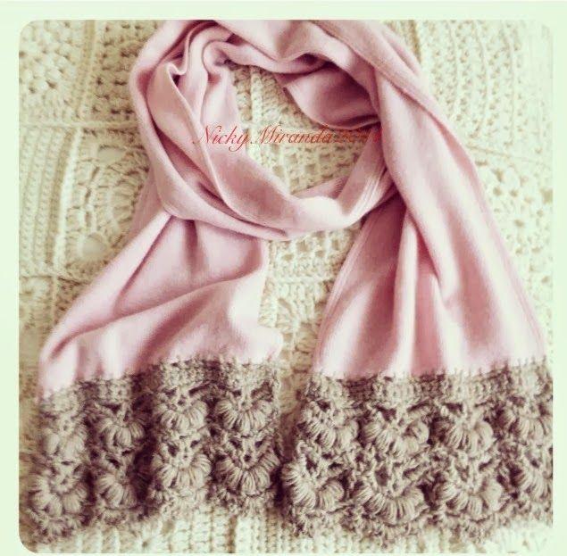 Gorgeous scarf border by 2012 work in progress: Free chart.  ✿Teresa Restegui http://www.pinterest.com/teretegui/✿