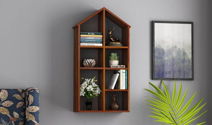 Buy Beckett Wall Shelf Honey Finish Online In India In 2020 Wooden Street Swinging Chair Shelves