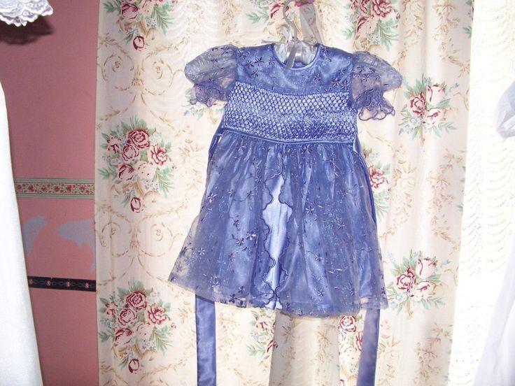 smocked organza 2 layer flower girl gown cutiepye creation