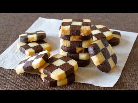 Create Eat Happy :): How to Make EASY Checkerboard Cookies (Ice Box Cookies) - Video Recipe