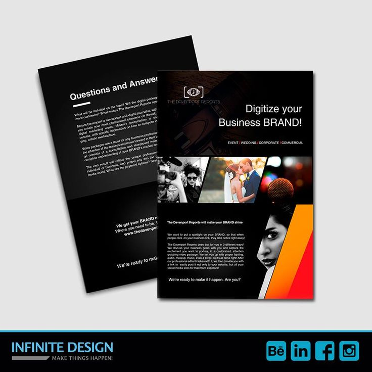 This is a #flyer we designed 2 months ago for Davenport reports, they make videos for different types of companies.