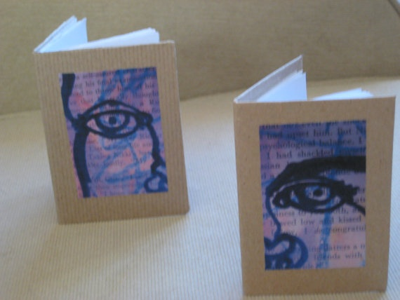 Two small recycled paper handmade books with by HandmadeInKeswick, £10.00