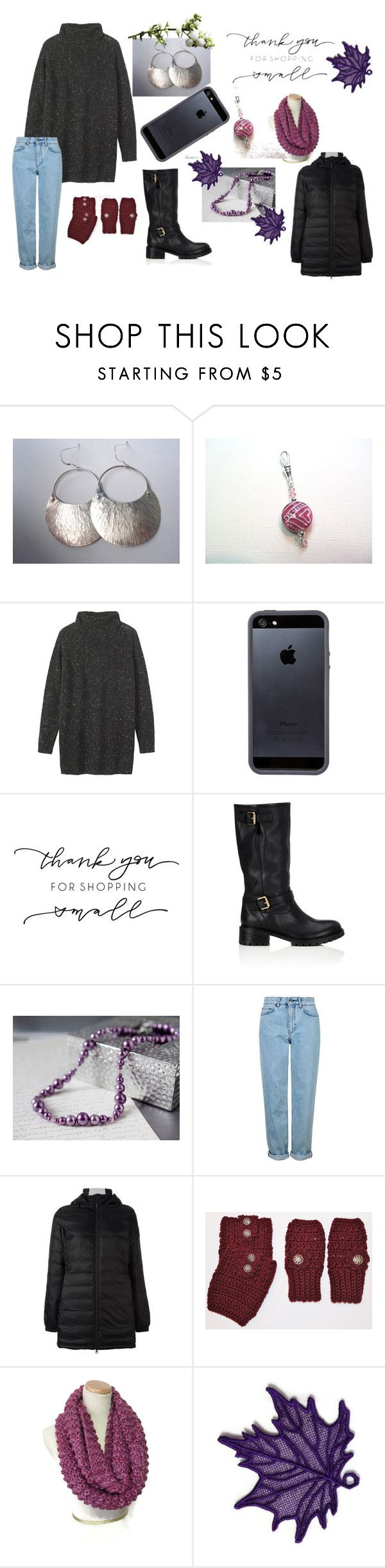 Winter Casual Wear for Her #2 by keepsakedesignbycmm on Polyvore featuring Toast, Canada Goose, Topshop, Fendi and Tavik Swimwear