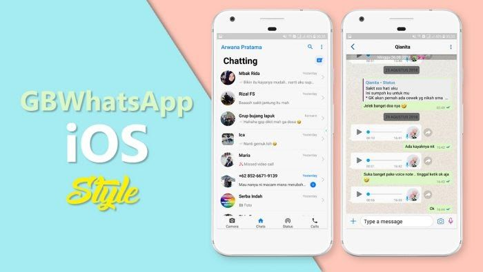 Download Gbwhatsapp Ios Style Apk Versi Terbaru 2020 Ios Ios 10 Iphone