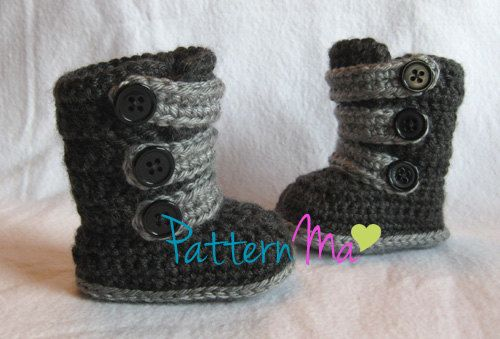 Crochet Pattern Strappy Baby Boots by PatternMa on Etsy, $5.00