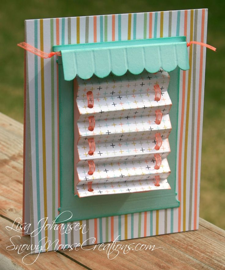 Interactive Mini Blinds Card There S A Tutorial On