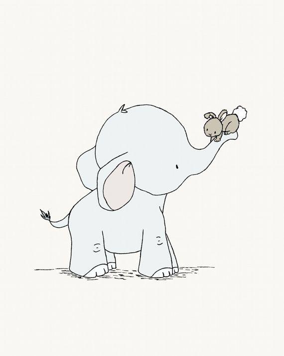 Bild mit spielenden Elefanten