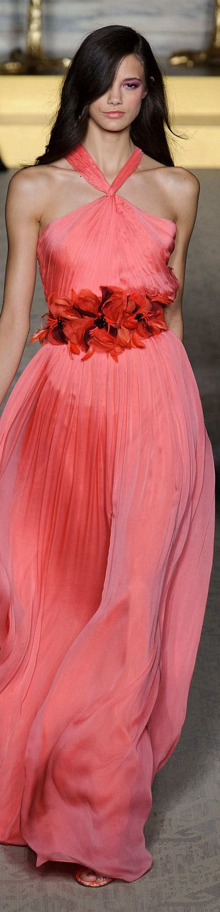 Matthew Williamson Collection ~ Halter Top Gown, Rose, Spring 2015
