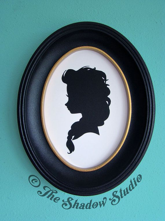 Disney Elsa from Frozen Hand-Cut Paper Silhouette by TheShadowStudio, $25.00
