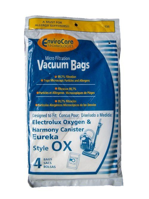 electrolux canister vacuum bags 4 pack desigend to