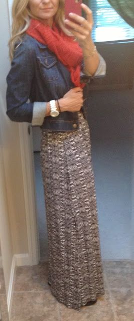 Lovin' a Maxi Dress and jean jacket