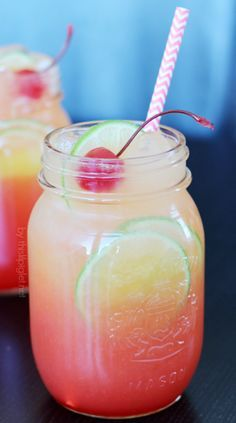 Shirley Temple: Mix ginger ale, a splash of orange juice and a drizzle of grenadine. Garnish with a lime, maraschino cherry and a cute straw.