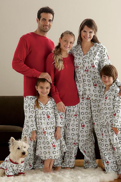Ho Ho Ho Family Christmas Pajamas.  This just cracks me up - I'm so gonna make everyone wear matching p.j.'s