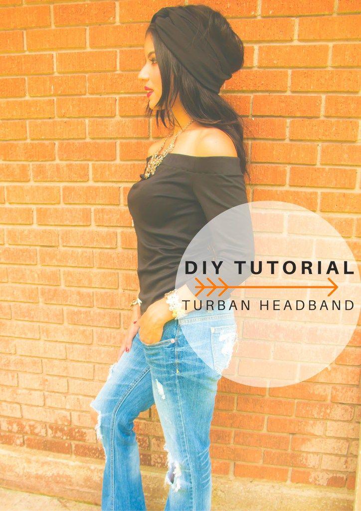 DIY Turban Headband Tutorial - Rosy   Peña                                                                                                                                                      Más