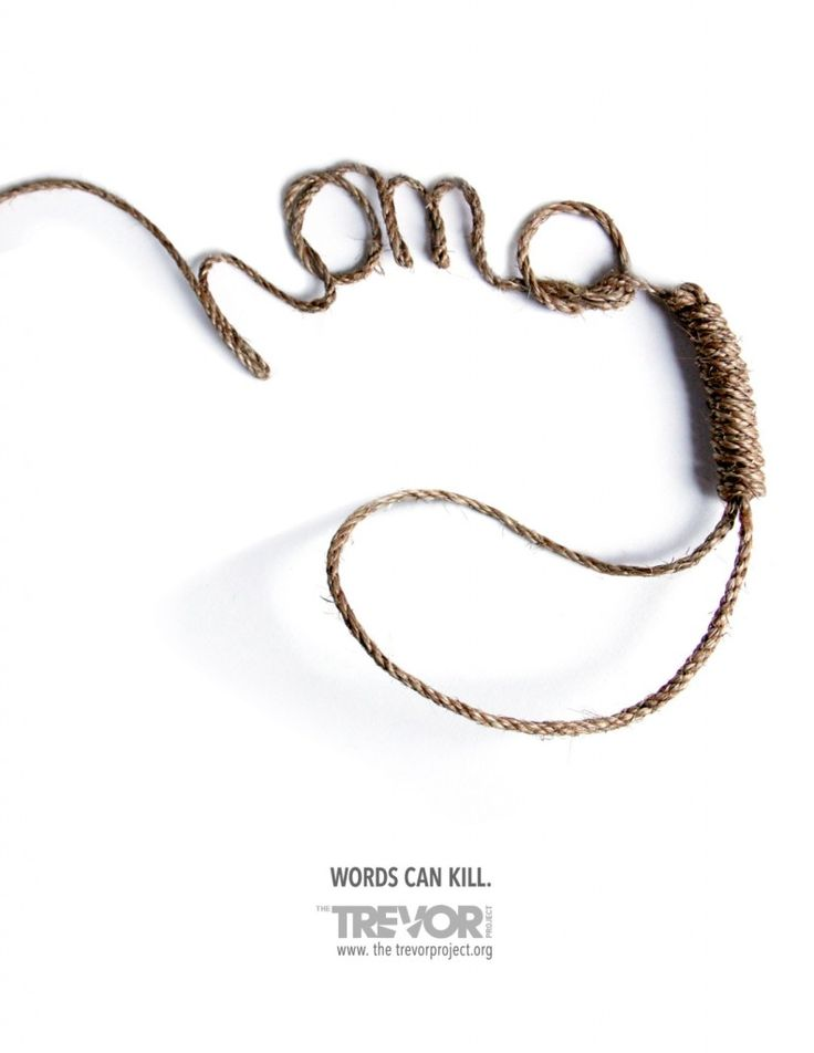 The Trevor Project: Words can kill #Advertising