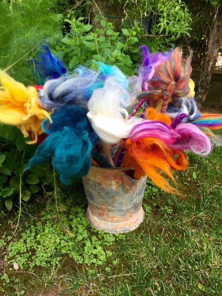 Bacchette magiche in lana fiabadi tutti i di CreazioniMonica