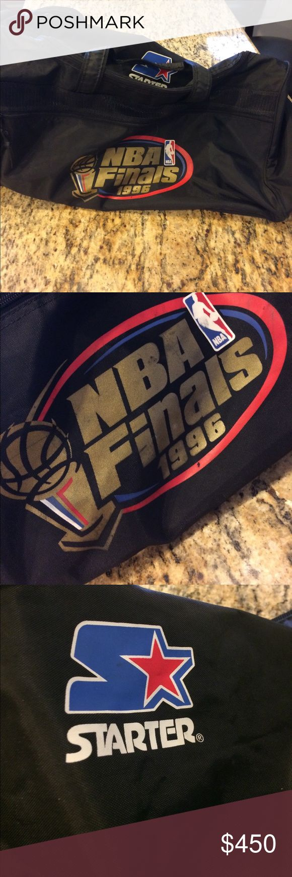 1996 NBA FINALS Starter Duffel Bag Great condition for a duffel that's from 1996. Tiny flaws that are posted in the pic. Pockets are posted in the pics. SERIOUS INQUIRIES ONLY Starter Bags Duffel Bags