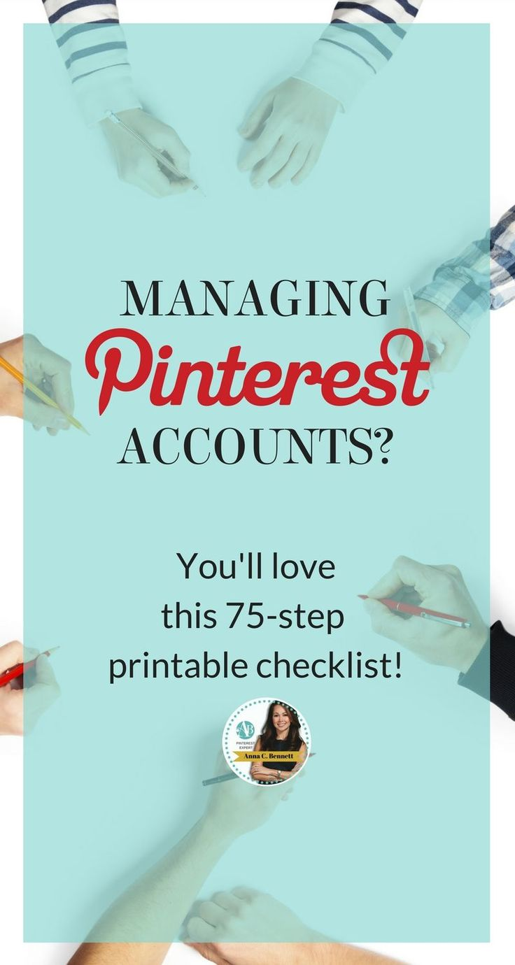 Your tasks as a social media manager or Pinterest account manager will most likely depend on your job description, time, budget and expertise. There aren't many places to learn about how to become a successful Pinterest account manager. I've created a 75 step checklist starting from opening up your business account to measuring ROI. You won't find it elsewhere. Click to learn how to become a successful Pinterest account manager from #PinterestExpert Anna Bennett #PinterestManagement